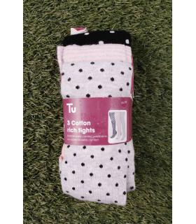 Set Ciorapi Pantaloni Tricotati cu Buline