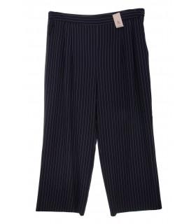 Pantaloni Office Navy cu Dungi