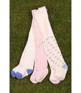 Set Ciorapi Tricotati Pink&White Fete