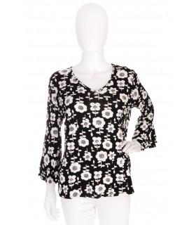Bluza Floral Black & White