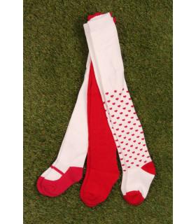 Set Ciorapi Pantaloni Tricotati cu Inimioare