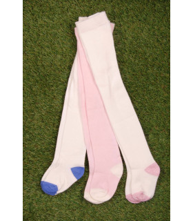 Set Ciorapi Pantaloni Tricotati White & Pink