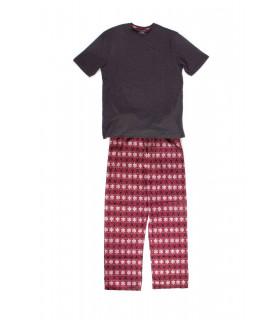 Pijama cu Reni si cu Fulgi de Zapada, Maneca Scurta