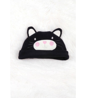 Caciulita Polar Black Cat