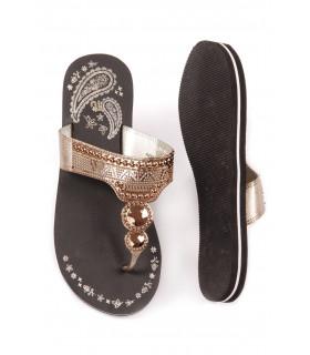 Papuci Flip-Flop Gold