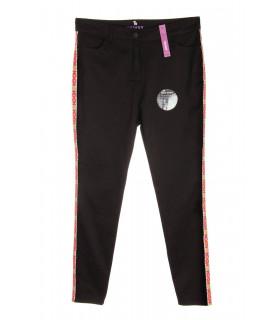 Pantaloni Skinny cu Banda Decorativa