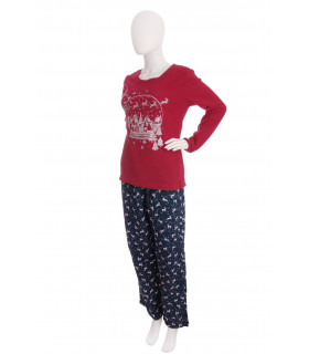 Pijama Femei Santa Claus and the Reindeers