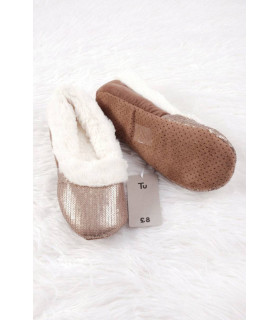 Pantofi de Casa Femei Gold