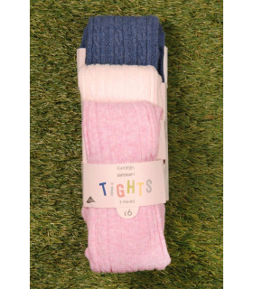 Set Ciorapi Tricotati Pink Blue White