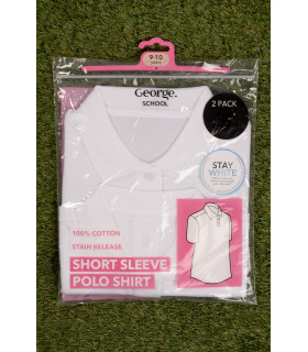 Set Tricou George School White