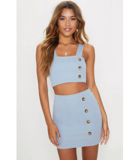 Top Blue PRETTYLITTLETHING
