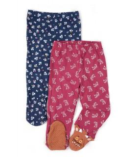 Set Pantaloni de Pijama cu Floricele