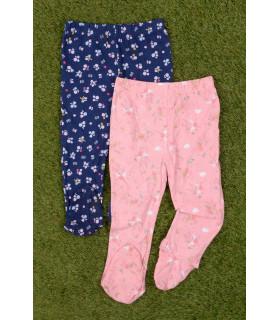 Set Pantaloni de Pijama cu Flori