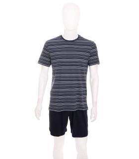 Pijama Bleumarin cu Dungi pentru Barbati