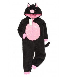 Pijama tip Salopeta Black Cat