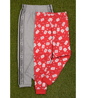 Set 2 Perechi de Pantaloni Pijama Santa