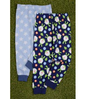 Set 2 Perechi de Pantaloni Pijama Snowman