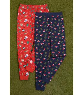 Set 2 Perechi de Pantaloni Pijama X-Mas