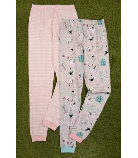 Set 2 Perechi de Pantaloni Pijama Caticorn