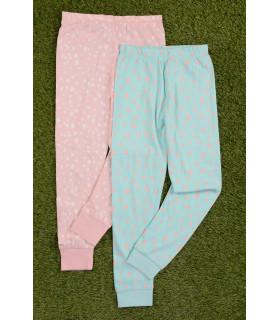 Set Pantaloni de Pijama cu Bulinute