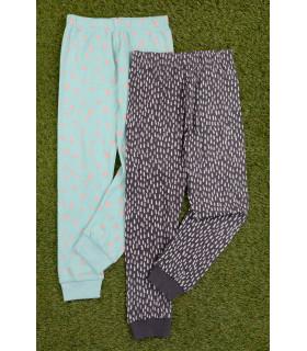 Set 2 Pantaloni de Pijama cu Bulinute