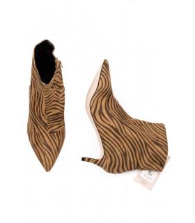 Botine cu Imprimeu Zebra