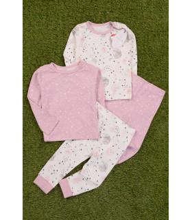 Set 2 Perechi de Pijamale pentru Fete