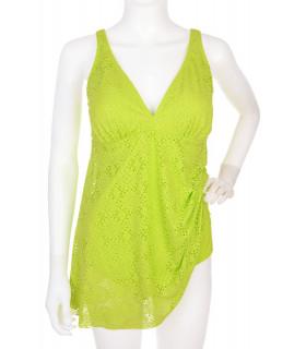 Costum de Baie tip Rochie Verde Neon