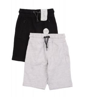 Set Pantaloni Scurti de Trening Gri & Black