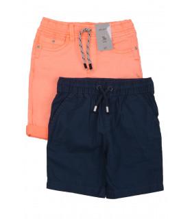 Set Pantaloni Scurti Orange & Navy