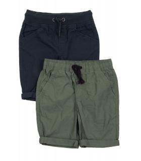 Set Pantaloni Scurti Casual Kaki & Navy