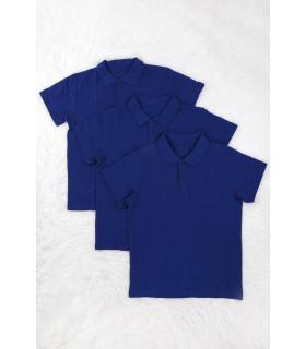 Set Tricou tip Polo Albastru TU School